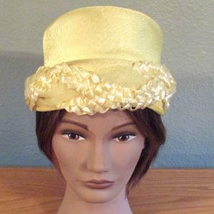 Ribbon and Lace Twisted Dressy Formal Church Hat